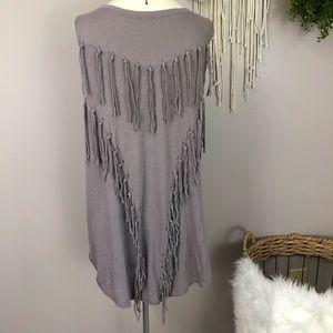 We The free medium purple gray sleeveless boho top